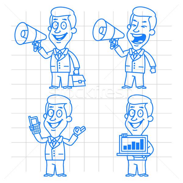 いたずら書き ビジネスマン 通信 技術 実例 フォーマット ストックフォト © yuriytsirkunov