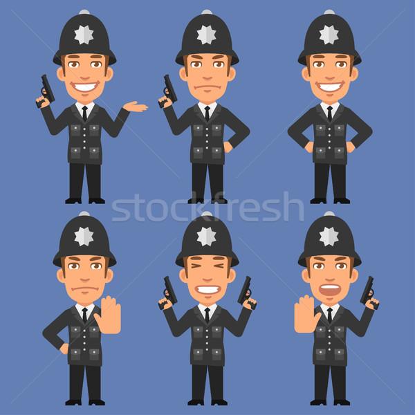 Angol rendőr fegyverek formátum eps 10 Stock fotó © yuriytsirkunov