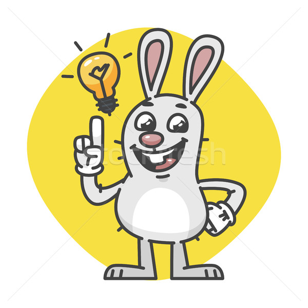 Bunny Laughs and Came Up Idea Stock photo © yuriytsirkunov