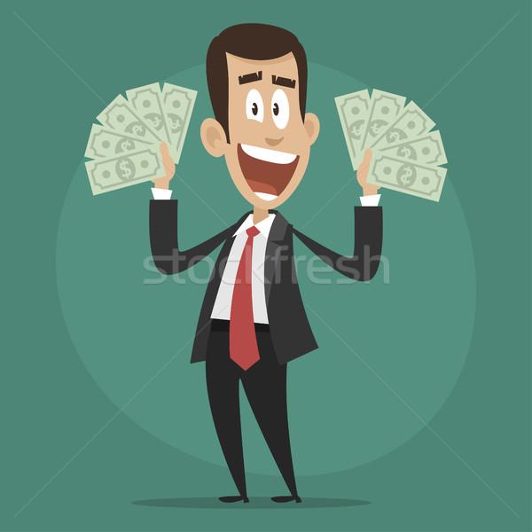 Karakter zakenman gelukkig illustratie formaat Stockfoto © yuriytsirkunov
