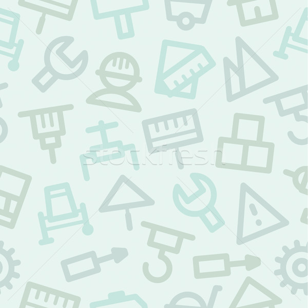 Pattern icons set repair construction Stock photo © yuriytsirkunov