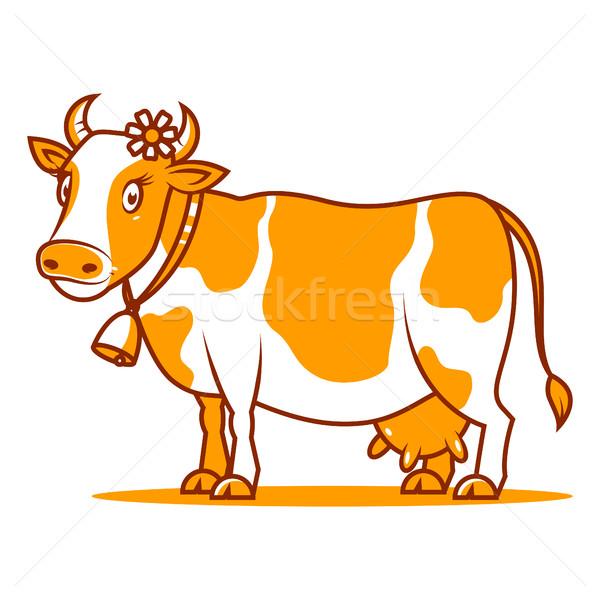 Good cow smiling Stock photo © yuriytsirkunov