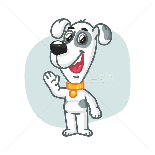 Cão pata sorridente formato eps Foto stock © yuriytsirkunov