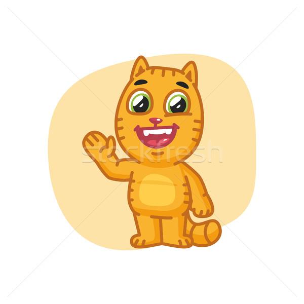 Macska mancs integet mosolyog formátum eps Stock fotó © yuriytsirkunov