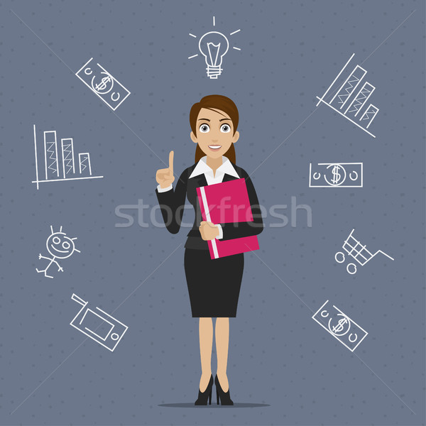 Femme d'affaires affaires idée illustration format eps Photo stock © yuriytsirkunov