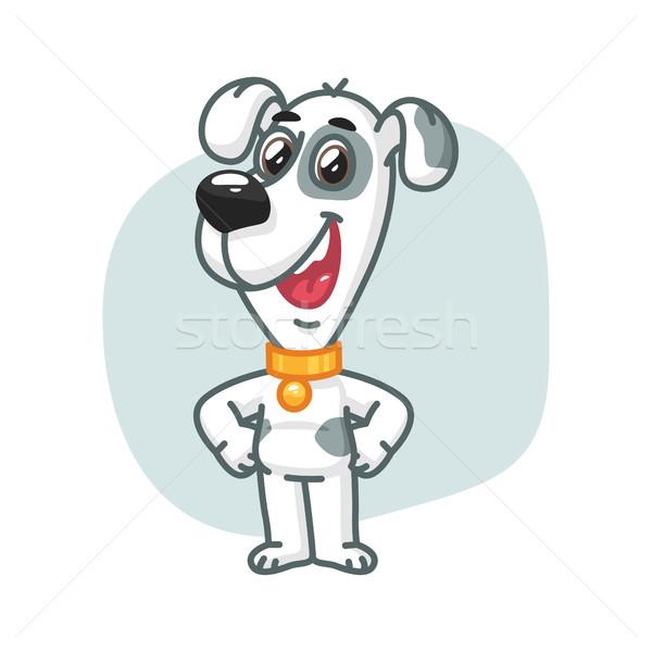 Hond heupen glimlachend formaat eps Stockfoto © yuriytsirkunov