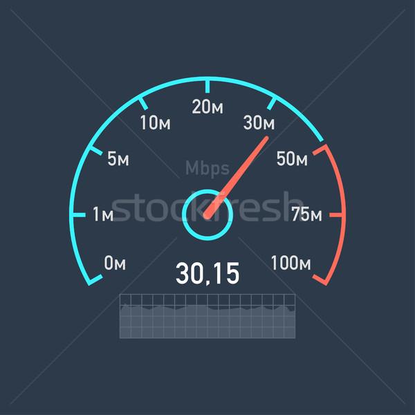 Hızölçer hızlandırmak Internet trafik örnek format Stok fotoğraf © yuriytsirkunov