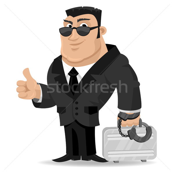 Agent keeps suitcase in handcuffs Stock photo © yuriytsirkunov