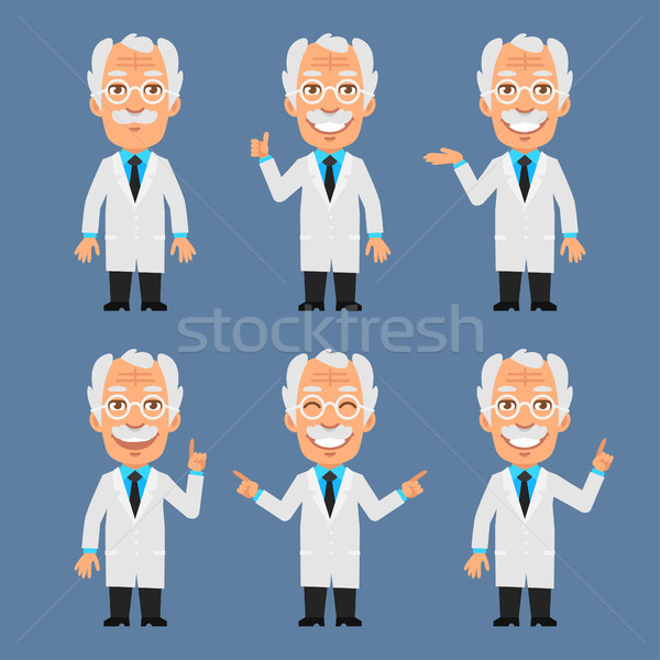 Oude hoogleraar show punten formaat eps Stockfoto © yuriytsirkunov
