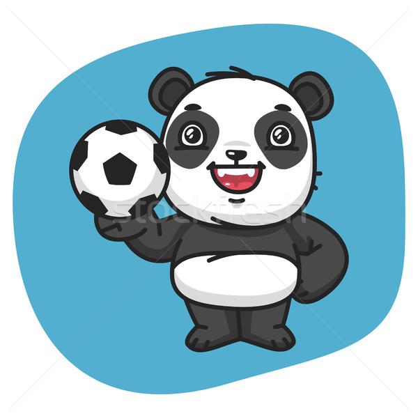 Panda futebol formato eps 10 projeto Foto stock © yuriytsirkunov