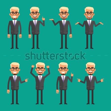 Lijfwacht verschillend formaat eps 10 man Stockfoto © yuriytsirkunov