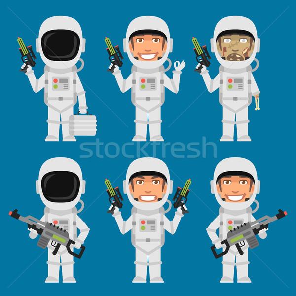 Astronaute futuriste armes format eps Photo stock © yuriytsirkunov
