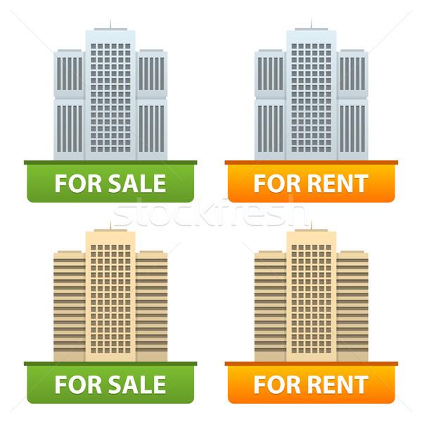 Düğmeler satış kira şehir format Stok fotoğraf © yuriytsirkunov