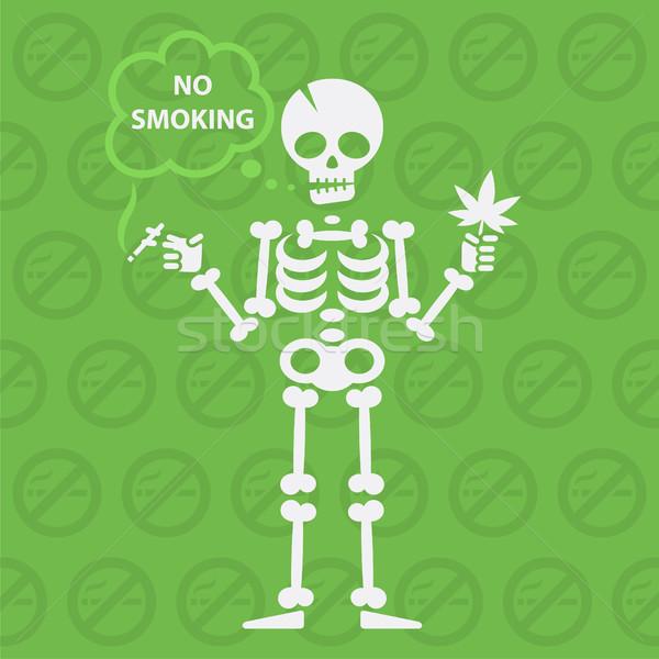 Dohányozni tilos formátum eps 10 terv fehér Stock fotó © yuriytsirkunov