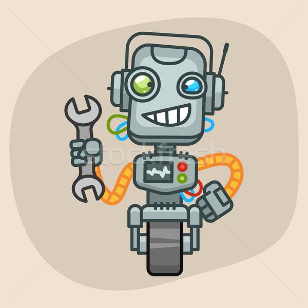 Robot Holding Wrench Stock photo © yuriytsirkunov