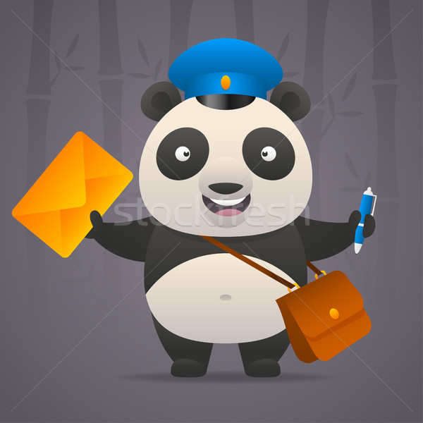 Panda postbode brief illustratie formaat eps Stockfoto © yuriytsirkunov