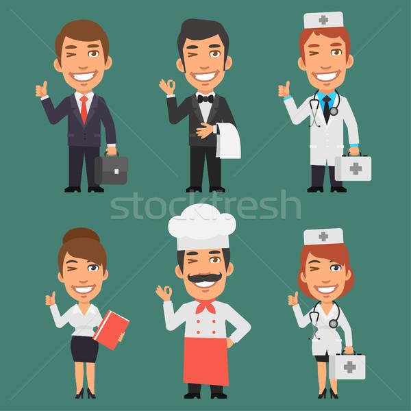 異なる 職業 ビジネスマン ビジネス女性 医師 ストックフォト © yuriytsirkunov