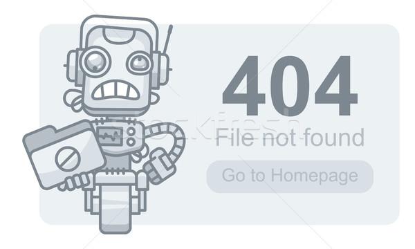 Bestand niet robot map formaat eps Stockfoto © yuriytsirkunov