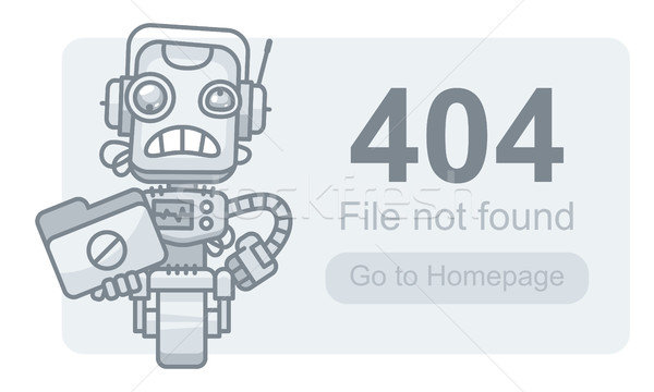 Concept File Not Found Robot with Folder Stock photo © yuriytsirkunov