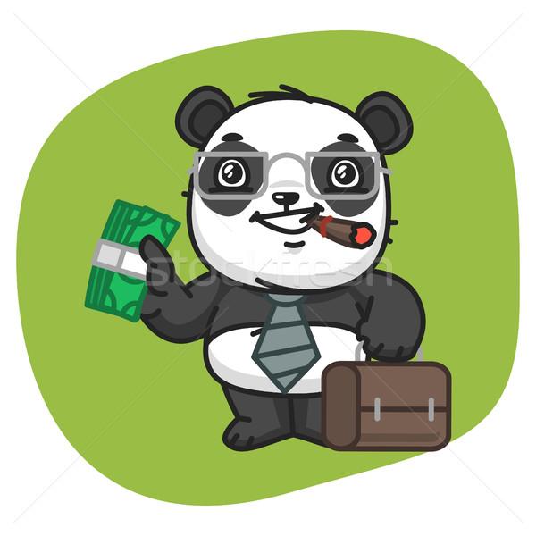Panda maleta dinero formato eps 10 Foto stock © yuriytsirkunov