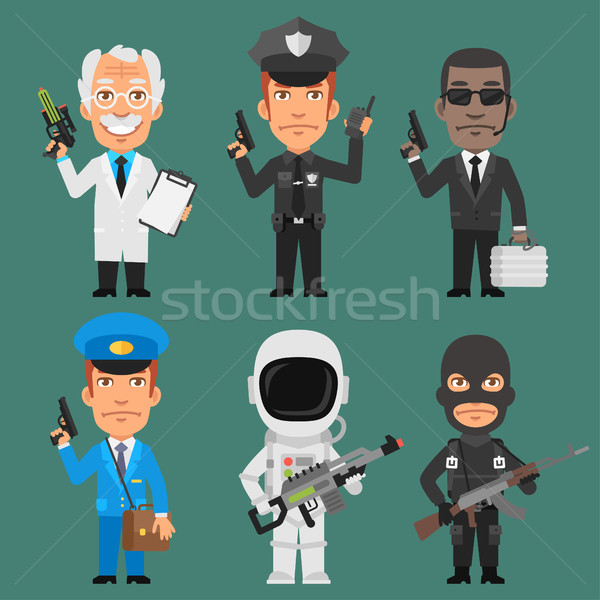 Characters Different Professions Part 10 Stock photo © yuriytsirkunov