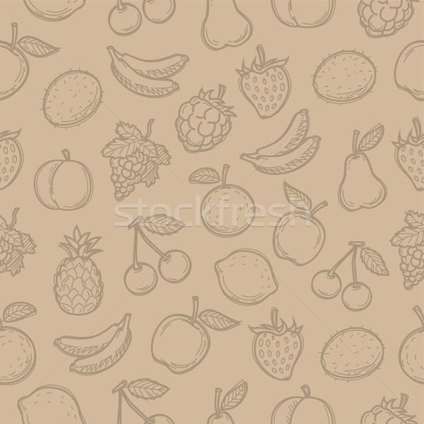 Padrão rabisco frutas possibilidade formato Foto stock © yuriytsirkunov