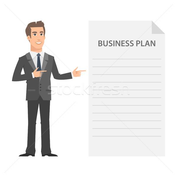 Businessman and business plan concept Stock photo © yuriytsirkunov