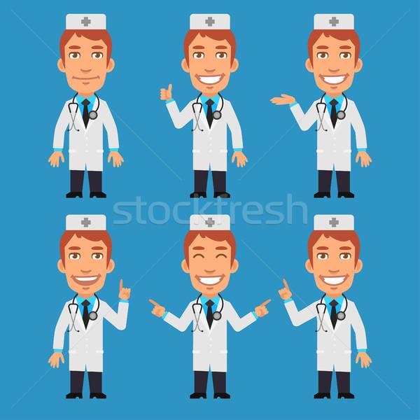 Doctor Shows and Indicates Stock photo © yuriytsirkunov