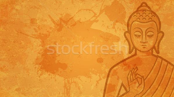 Buda örnek format eps 10 ışık Stok fotoğraf © yuriytsirkunov