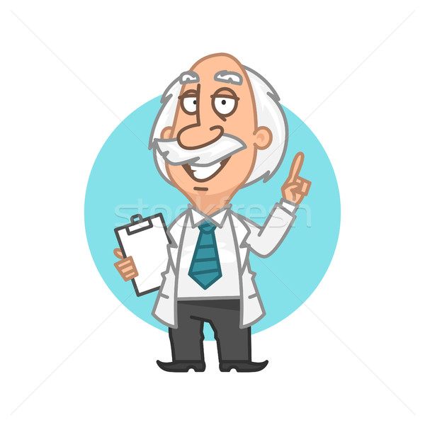 Professor showing thumbs up and smiling Stock photo © yuriytsirkunov