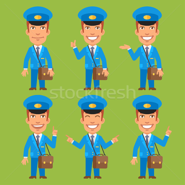 Postman Indicates and Shows Stock photo © yuriytsirkunov