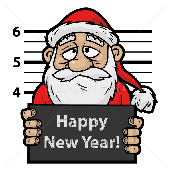 Santa Claus prisoner Stock photo © yuriytsirkunov