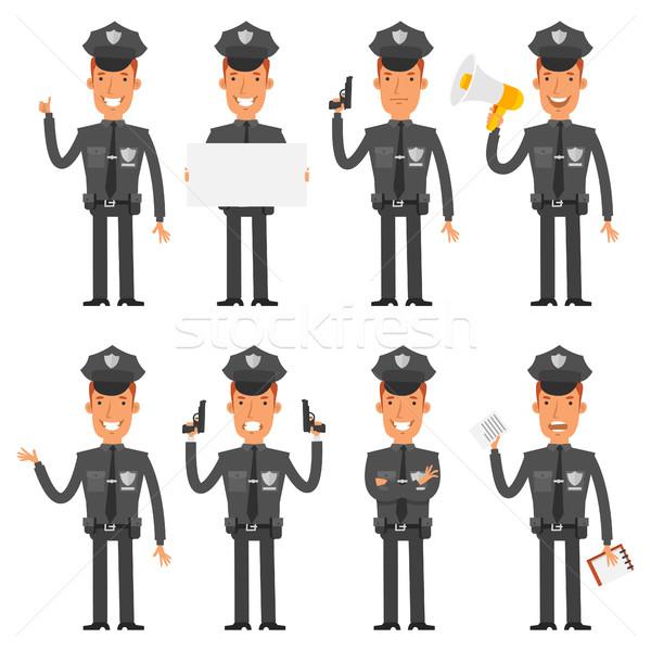 Polis farklı format eps 10 çalışmak Stok fotoğraf © yuriytsirkunov