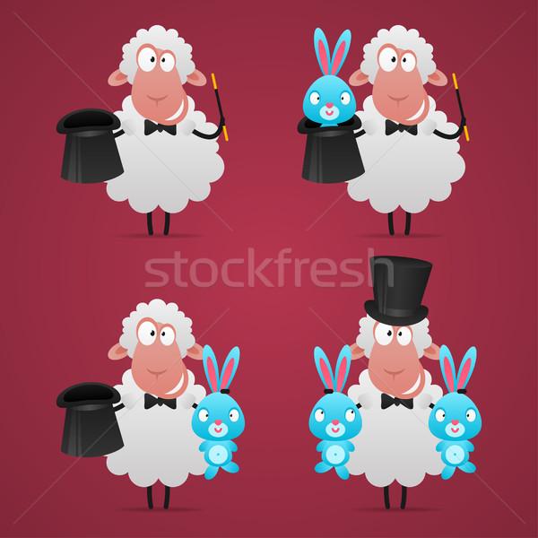 Ayarlamak koyun büyücü farklı örnek format Stok fotoğraf © yuriytsirkunov