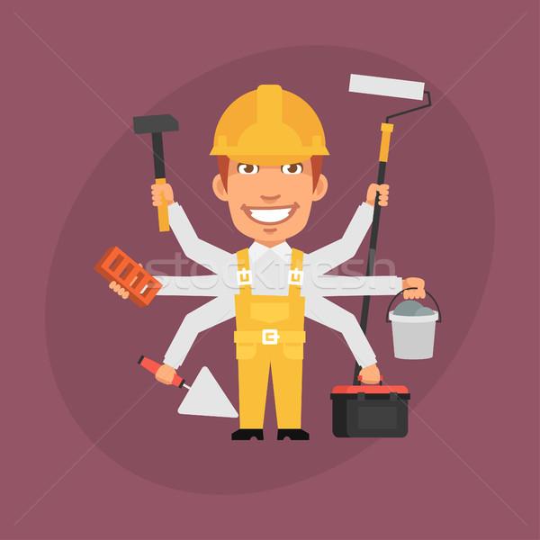 Builder Master Many Hands Stock photo © yuriytsirkunov