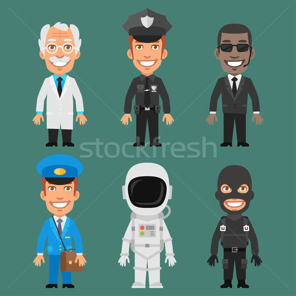 Characters Different Professions Part 6 Stock photo © yuriytsirkunov