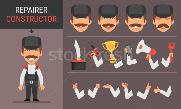 Constructor Character Repairer Stock photo © yuriytsirkunov