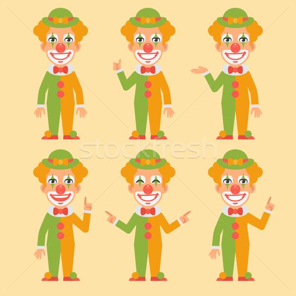 Clown Shows and Indicates Stock photo © yuriytsirkunov
