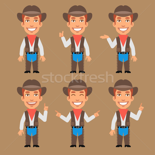 Cowboy Indicates and Shows Stock photo © yuriytsirkunov