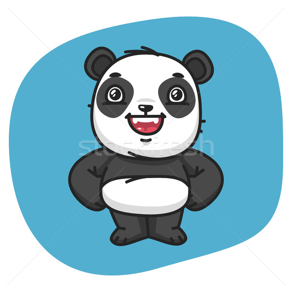 Foto stock: Panda · pata · cintura · formato · eps · 10