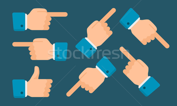 Hands Show Indicate in Different Directions Stock photo © yuriytsirkunov
