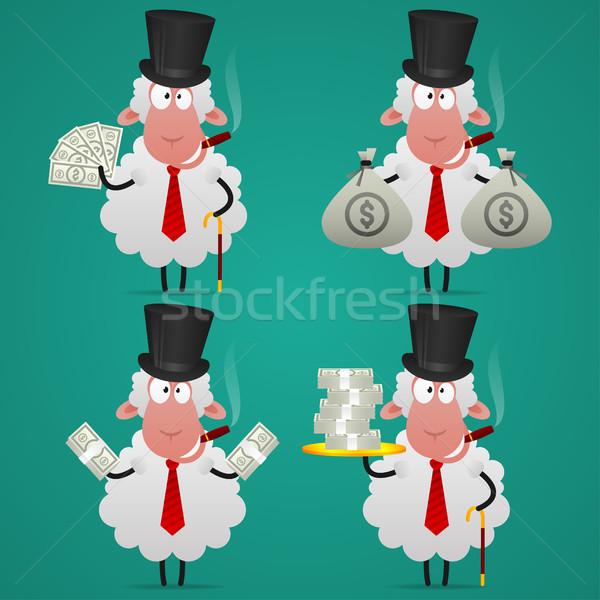 Ayarlamak koyun bankacı farklı örnek format Stok fotoğraf © yuriytsirkunov