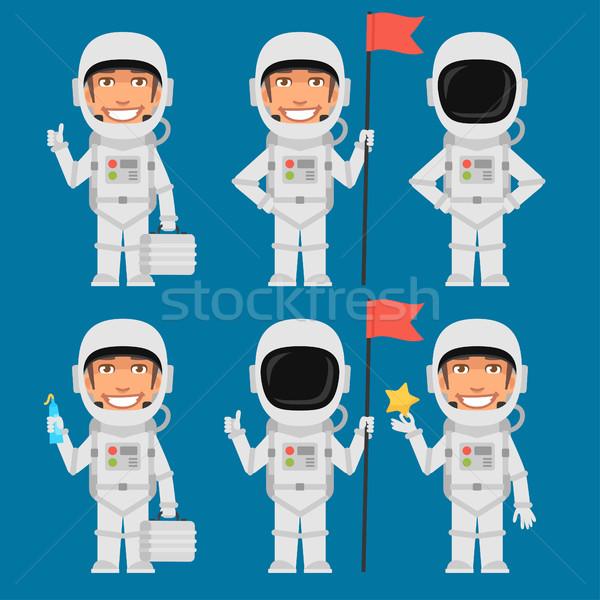 Astronauta bandiera valigia star formato Foto d'archivio © yuriytsirkunov