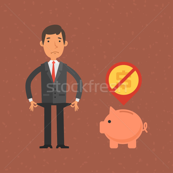 üzletember nincs pénz illusztráció formátum eps 10 Stock fotó © yuriytsirkunov