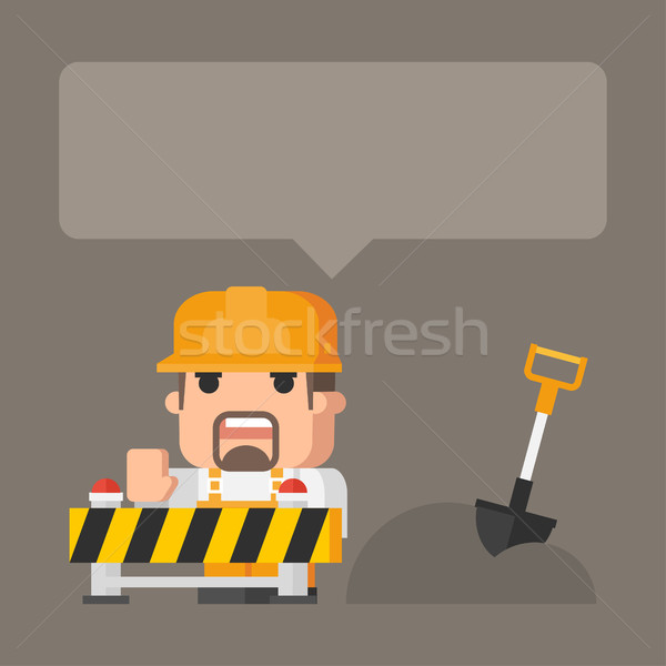 Concept construction works Stock photo © yuriytsirkunov