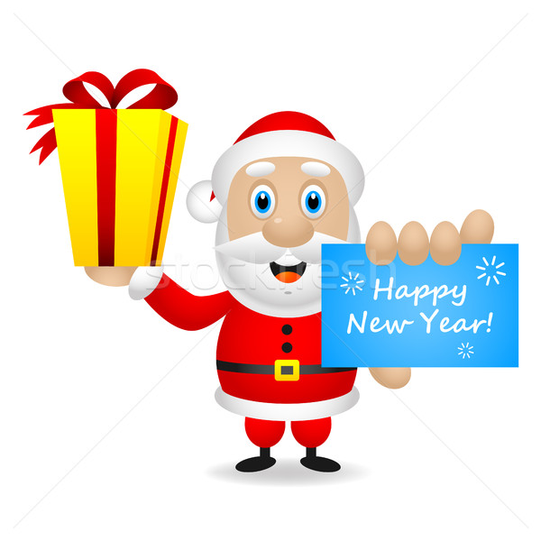 Wensen gelukkig nieuwjaar illustratie formaat eps Stockfoto © yuriytsirkunov