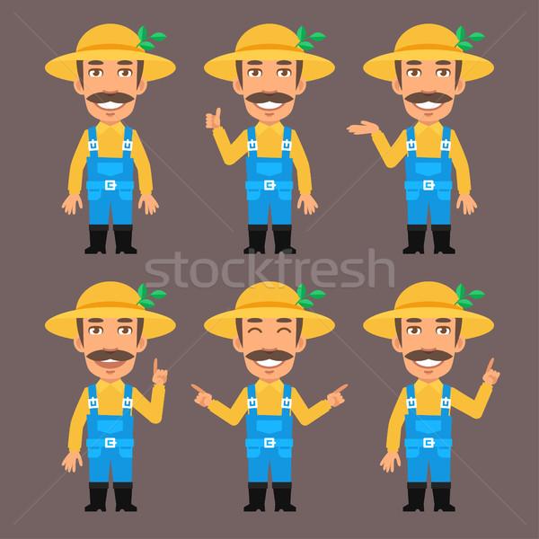 ストックフォト: 農家 · フォーマット · eps · 10 · 手 · 男