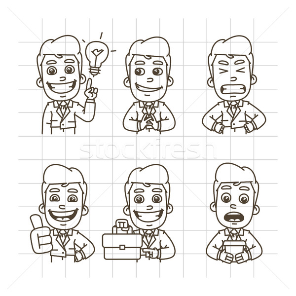 Businessman Sketch Doodle Part 3 Stock photo © yuriytsirkunov