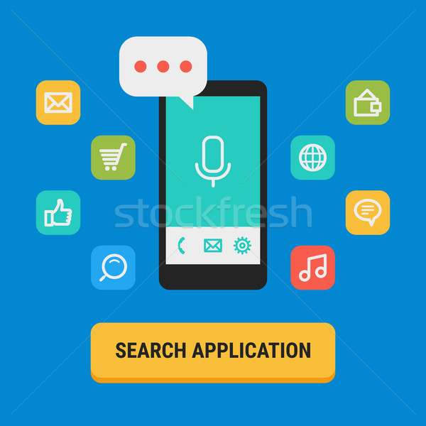 Concept Search for App Icons Mobile Phone Stock photo © yuriytsirkunov