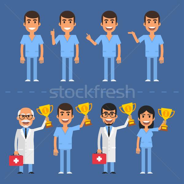 ストックフォト: 医師 · 古い · 看護 · eps · 10